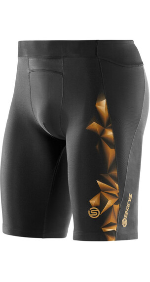 Skins M's A400 1/2 Tights Black/Gold